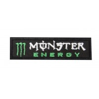 0674 Embroidered patch sew on 10x3 MONSTER ENERGY DRINK
