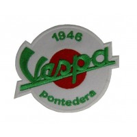 0681 Embroidered patch sew on 9x7 Vespa PONTEDERA 1946