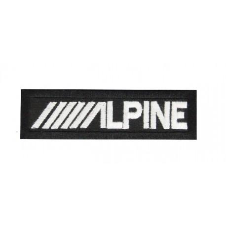 Patch emblema bordado 11X3  ALPINE