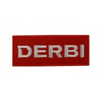 Patch emblema bordado 10x4 DERBI