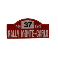 0307 Embroidered patch 10x4 RALLY MONTE-CARLO 1964 MINI 37