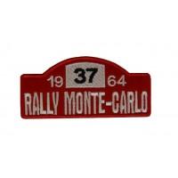 0307 Patch emblema bordado 10x4 RALLY MONTE-CARLO 1964 MINI 37