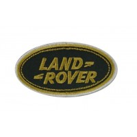 0703 Embroidered patch 9x5 LAND ROVER gold wht