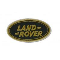 0703 Patch écusson brodé 9x5 LAND ROVER or blc