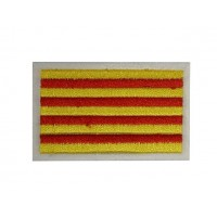 0709 Patch emblema bordado 6X3,7 bandeira CATALUNHA