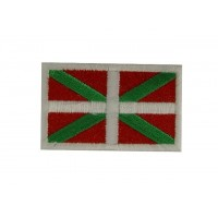 0710 Embroidered patch sew on 6X3,7 flag BASQUE COUNTRY