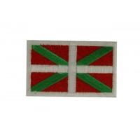 0710 Patch emblema bordado 6X3,7 bandeira PAIS BASCO