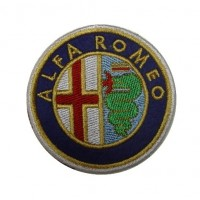 0446 Embroidered patch 7x7 ALFA ROMEO 1972