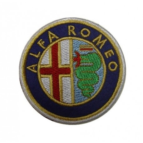 Embroidered patch 7x7 ALFA ROMEO 1972