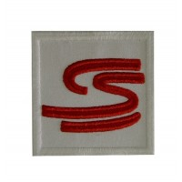 0100 Embroidered patch 7x7 AYRTON SENNA S curve