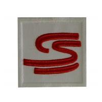 0100 Patch emblema bordado 7x7 AYRTON SENNA S curva