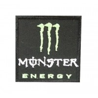 0735 Embroidered patch sew on 7x7 Monster Energy