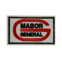 0742 Patch écusson brodé 9x5 MABOR GENERAL