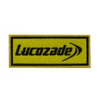 0746 Embroidered patch sew on 10x4 LUCOZADE