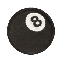 0751 Embroidered patch 7x7 8 BALL EIGHT