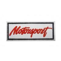0756 Patch emblema bordado 10x4 MOTORSPORT