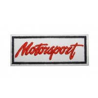 Patch emblema bordado 10x4 MOTORSPORT