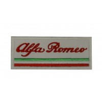 0774 Embroidered patch 10x4 ALFA ROMEO ITALY
