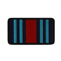0779 Embroidered patch 8X4MARTINI RACING COLORS