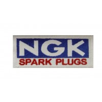0076 Embroidered patch 10x4 NGK spark plugs