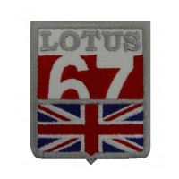 0851 Embroidered patch 7x6 LOTUS 1967 UK