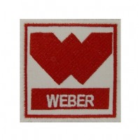 0853 Embroidered patch 7x7 WEBER CARBURATTOR