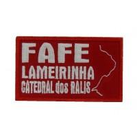 Patch emblema bordado 10x6 FAFE LAMEIRINHA CATEDRAL DOS RALIS