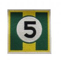 0860 Patch emblema bordado 7x7 nº 5 LOTUS JIM CLARK