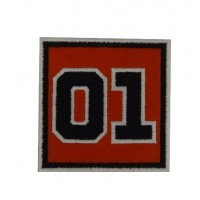0861 Embroidered patch 7x7  nº 01 GENERAL LEE