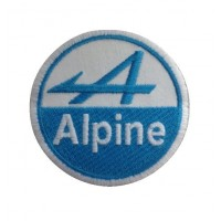 0866 Embroidered patch 7x7 ALPINE renault