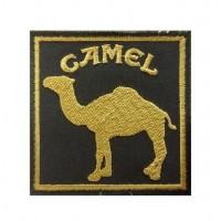 0870 Embroidered patch 7x7 Camel Paris DAKAR green