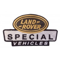 0873 Patch emblema bordado 14x8 LAND ROVER SPECIAL VEHICLES