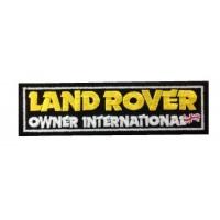 0875 Patch écusson brodé 15X4 LAND ROVER OWNER INTERNATIONAL
