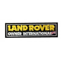 0875 Patch emblema bordado 15X4 LAND ROVER OWNER INTERNATIONAL