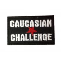 0876 Embroidered patch 10x6 CAUCASIAN CHALLENGE