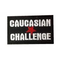 0876 Patch emblema bordado 10x6 CAUCASIAN CHALLENGE
