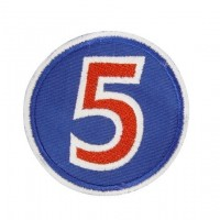 0649 Embroidered patch 7x7 Nº 5 NIGEL MANSELL