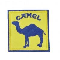 0877 Patch écusson brodé 7x7 Camel Paris DAKAR
