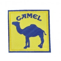 0877 Embroidered patch 7x7 Camel Paris DAKAR