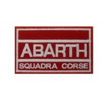 0885 Embroidered patch 10x6 ABARTH SQUADRA CORSE