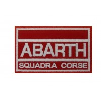 0885 Patch emblema bordado 10x6 ABARTH SQUADRA CORSE
