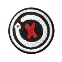 0887 Embroidered patch 5X5 JORGE LORENZO