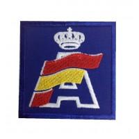 0902 Patch emblema bordado 7x7 RFEDA REAL FEDERACIÓN ESPAÑOLA DE AUTOMOVILISMO