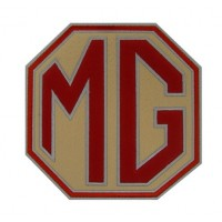 0910 Embroidered patch 18x18 MG MOTOR MORRIS GARAGES