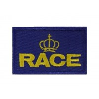 0914 Patch emblema bordado 7X4.5 RACE