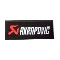 Patch emblema bordado 10x4 AKRAPOVIC