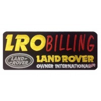 0923 Patch emblema bordado 22x9 LAND ROVER OWNER INTERNATIONAL LRO BILLING