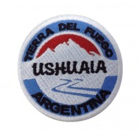 0932 Embroidered patch 7x7 USHUAIA TIERRA DEL FUEGO ARGENTINA