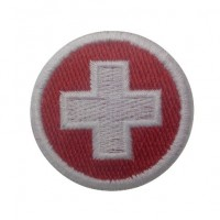 0534 Embroidered patch sew on 4x4 Switzerland flag Vespa