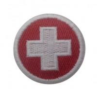 0534 Patch emblema bordado 4x4 bandeira Suiça Vespa